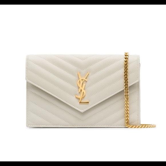 e2c8665da26 Yves Saint Laurent Bags | Ysl White Monogram Leather Crossbody Bag ...
